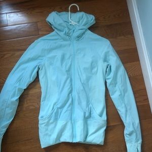 Lululemon size 10 jacket! Ice blue!